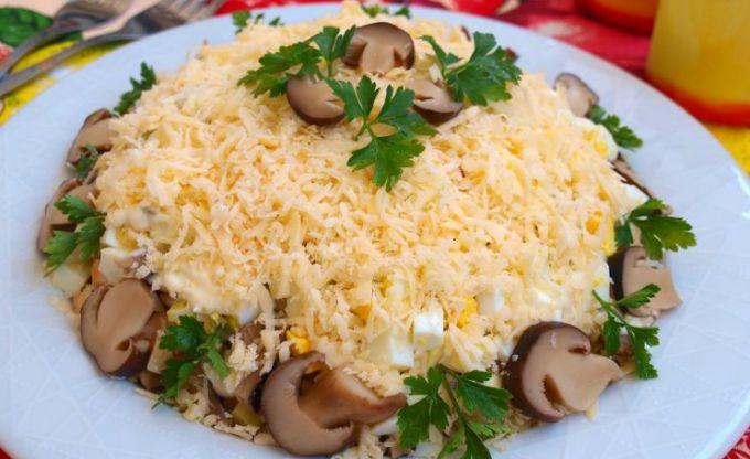 Салат из куриной грудки слоями рецепт